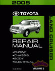 TOYOTA LAND CRUISER 2005 SHOP MANUAL SERVICE REPAIR BOOK LANDCRUISER 4x4 GUIDE