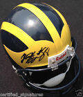 JUNIOR HEMINGWAY SIGNED MICHIGAN WOLVERINES HELMET KANSAS CITY CHIEFS COA J1