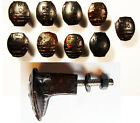 9 Railroad Spike Knobs Door Pulls Cupboard Dresser Drawer Antique Vintage Rustic