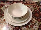 Lot Of 5-piece Setting Johnson Brothers White Ironstone England