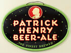 PATRICK HENRY TIN LITHO BEER SIGN ADVERTISING KILEY BREWING, MARION, INDIANA ALE