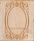 ANNA GRIFFIN Wood Mount Rubber Stamp Fancy Oval Cartouche 580K48