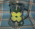 Dixie Dogwood 32 oz Glassware glass Pitcher 7 1/2 inch tall for lemonade juice