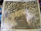 WW2 OSS Photographic Topographical Map South Central Europe 16 x 20 inches