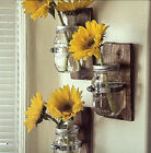3 Country Style Wall Vases Awesome Mason jar hanging wall vase Great Decor