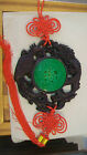 GREEN BEIJING GLASS WITH RESIN ORIENTAL DRAGON WALL HANGING