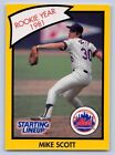 1990  MIKE SCOTT - Kenner Starting Lineup Card - HOUSTON ASTROS - (Yellow)