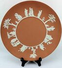 Wedgwood Jasperware England 1957 Cream Cake Plate on Terracotta 9.38
