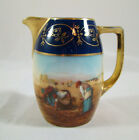 Epiag Royal Czechoslovakia Creamer Pitcher Cobalt Gold Women Working in Fields