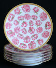 T & V LIMOGES PINK ROSES CABINET PLATES for OVINGTON BROS NY  Sold Individually