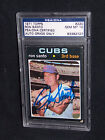 1971 Topps Ron Santo PSA 10 Autographed Baseball Card Signed Chicago Cubs HOF 69