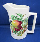 32 Oz Pitcher Water Tea Wood & Sons Alpine White Ironstone Mixed Fruits  A++