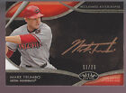 2014 Topps Tier One Acclaimed Autographs Copper Rose Autograph Mark Trumbo 11 25