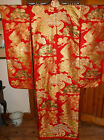 VINTAGE JAPANESE SILK EMBROIDERED WEDDING BRIDAL KIMONO UCHIKAKE