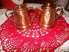 Vintage Gregorian Hammered Copper Lidded Creamer and Sugar