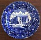 Antique 1909 Blue Transferware WEDGWOOD Lynn Massachusetts Women's Club Plate