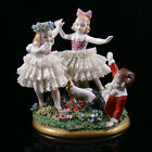 Rare Sitzendorf Lace Figural Group Children Playing Ring Around the Rosey