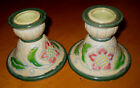 2 Vintage MARCO Japan Candle Holders Candlestick Arts & Crafts Nouveau Moriage