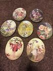 Cicely Mary Barker Flower Fairy Oval Plates Lot Of 7 Mint With Boxes And Hangers