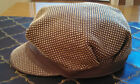 Authentic Burberry Women's Leather/Metal Studded Hat, Gold, Sz M