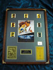 Titanic Custom Lighted 35 MM Movie Film Cell Display Case with coal