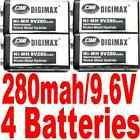 4*New Rechargeable DigiMax 9V 280mAh NiMH Battery US Seller Fast shipping=====%=