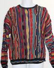 Roundtree & Yorke Colorful Vintage Coogi STYLE Bill Cosby Crazy Men's Sweater M