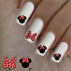 60 nail art decal,Minnie red bow,nail art design,nail stickers,disney style