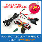 LED HID FOG Spot Work Driving light Wiring Loom Harness 12V 40A Switch Relay