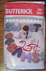 VIN 80s BUTTERICK PATTERN 4897 STUFFED ALPHABET PILLOWS - 13 IN TALL