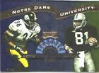 1999 BETTIS BROWN- ALMA MATER - 2015 BOTH IN THE HALL- NOTRE DAME FOOTBALL