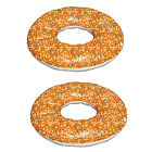 Swimline 48 Inch Inflatable Everything Bagel Swimming Pool Float Tube 2 Pack