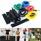 11PCS/Set 1.2m Latex Fitness Yoga Gym Pull Rope Tube Equipment Tool Home Sport