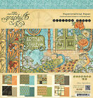 Graphic45 ARTISAN STYLE 8x8 PAPER PAD scrapbooking 24 SHEETS 8 DESIGNS