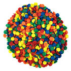Red Orange Yellow Green  Blue Edible Confetti Sequins Sprinkles 8 oz