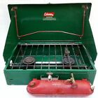 Vintage 1950's Coleman Two Burner Gas Camp Stove Model # 413F, Hunting, Camping