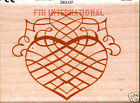 Wedding Heart ANNA GRIFFIN Wood Mount Rubber Stamp 580H39 Romance Love New