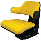 Yellow Wrap Around Seat w/ Arms Made To Fit John Deere Hesston Tractors