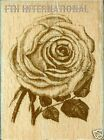 Large Blossom Motif ANNA GRIFFIN Wood Mount Rubber Stamp 580H26 Rose Flower