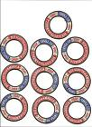 Lot of 10 Boy Scouts 100 Year Anniversary Crest Ring Patch Scouting Patches