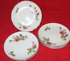 Vintage 1950s Moss Rose Set B 6 China Bread & Butter Plates 6