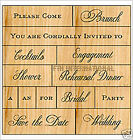 Wedding 2 ANNA GRIFFIN Wood Mount Rubber Stamp Set 2 of 2 47200 Love Phrases