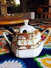 Antique Morimura Nippon Gold Beaded Condiment Bowl With Lid