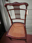 1800's Accent CHAIR hallway bedroom office dining AUTHENTIC ANTIQUE caned seat