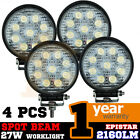 4PCS ROUND 27W LED WORK SPOT PENCIL OFFROADS LAMP LIGHT TRUCK 12V 24V 4WD 4x4