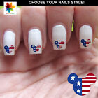 60 nail art decal,USA flag mickey mouse,nail art design,stickers,disney style