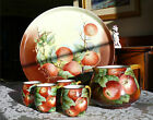6-Pc Cider Beverage Set w/ Tray, Pitcher & 4 Mugs, HP Luscious Red Apples