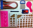 Paper Quilling Tools Paper Comb Needle CrimperCoach Board CardMaking Kit