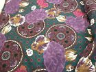 58 X 72 (2 YARDS) VINTAGE KNIT BLEND FABRIC LARGE PRINT PURPLES