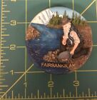 Gold Pan Magnet with Man Panning for Gold by creek NEW!
